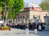 Lining up outside the Hagia Sophia
