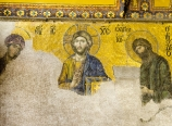 Deesis Mosaic, Jesus with Mary and John the Baptist