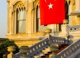 Çırağan Palace and flag