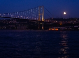 Bosphorus Bridge and the moon