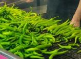 Roasting peppers inside Piknik Köfte