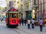 Nostalgic tram on İstiklal Street