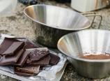 Dark chocolate and hot chocolate