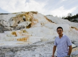 At Mammoth Hot Springs