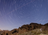 Star trails from the ridge
