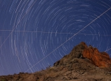 Star trails from our campsite