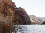 Paddling out of the Black Canyon