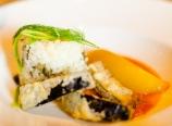 Eggplant and basmati rice timbale
