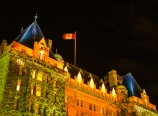 The Fairmont Empress Hotel at night