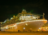 The Golden Princess lit up