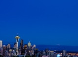 Moonrise above Seattle