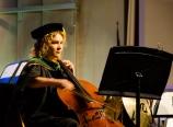 Julia Rittenhouse on the cello