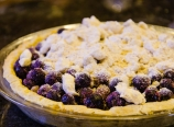 Blueberries with topping