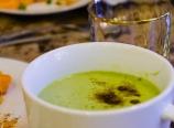 Vanilla avocado kale smoothie with brown sugar