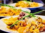 Puttanesca pappardelle pasta