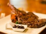 Grilled bison ribeye