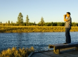 Andy capturing the Madison River