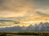 Sunset from Teton Point Turnout