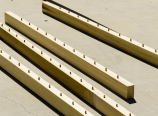 Dowel pins in the top rails