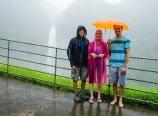 Heavy rain at Akaka Falls