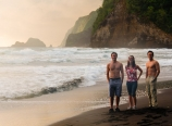 At Pololu Beach with my residents