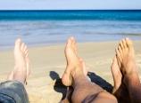 Relaxing at Hapuna Beach