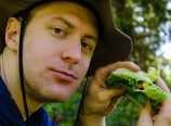 Mark having lunch