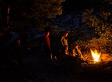 Campfire at Buck Creek campground