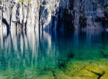 Deep blue Precipice Lake