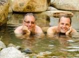 Mickey and Wayne having a soak