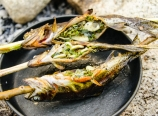 Ready-to-eat grilled trout