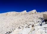 Hiking up behind pinnacles and needles