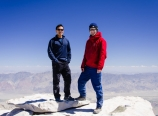 Standing on Mt. Whitney summit