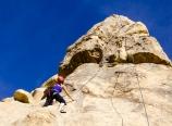 Krysten climbing the 5.8