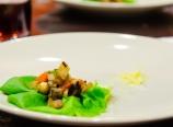 Tofu mushroom lettuce wrap