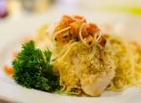 Parmesan-crusted halibut