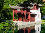 Chinese Garden stone boat