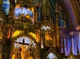 Inside the Notre-Dame Basilica
