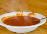 Hot, chunky tomato soup