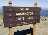 Mt. Washington State Park sign