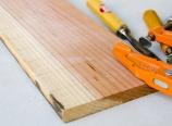 Redwood plank for ravioli mold