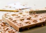 Carving the ravioli mold
