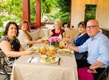 Dinner in the gazebo