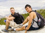 Wojtek and Andrew at the summit