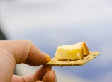 Smoked Gouda on a cracker
