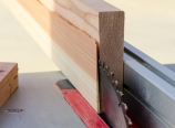 Sawing the drawer face