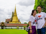Outside the Grand Palace complex