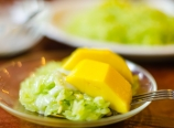 Mango and pandan sticky rice