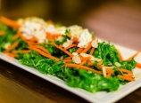 Curly kale with goat cheese