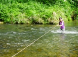 Fording the river